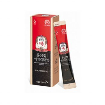 [1+1] Korean Red Ginseng EVERYTIME 6 Pouch x 10ml [Cheong-Kwanjang] Free 1 pouch Ginseng Latte