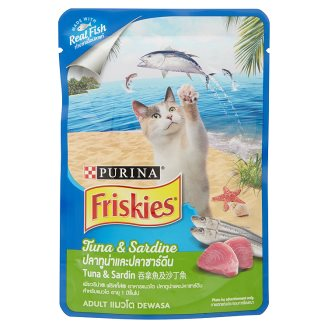 Cat Food / Makanan Kucing Friskies Tuna & Sardine 80 Gram