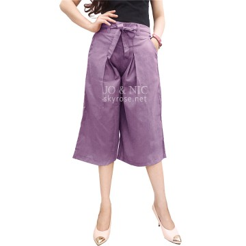Casual Culottes with Waist Tie - 5 warna