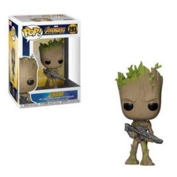 Funko POP! Marvel Avengers: Infinity War - Groot with Gun #293