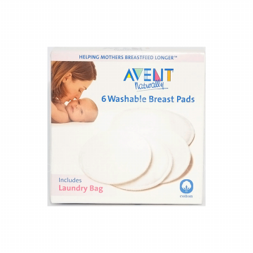 AVENT Washable Breast Pads 6 pcs  (include Laundry Bag)