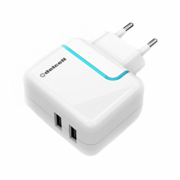 Delcell Adaptor Charger Dual USB Port 2.2A