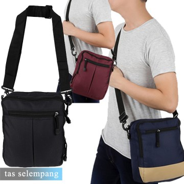 Tas Selempang Pria Men's Sling Crossbody Shoulder Bag Canvas