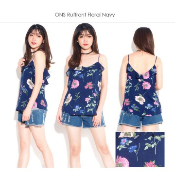 ONS Ruffled Tanktop-Women Sleeveless Top