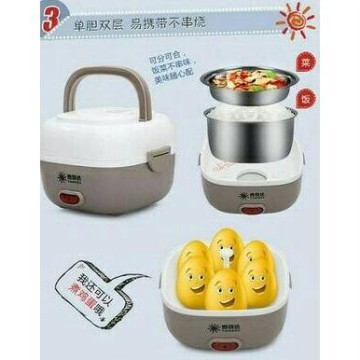 Taikeda Lunch Box Electric/Kotak Makan Elektrik Rice Cooker