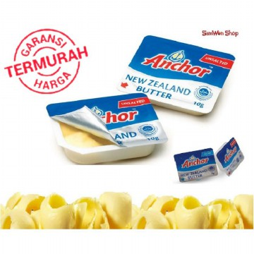 Anchor Unsalted Butter Mini Portion 10 Cup Per Pack