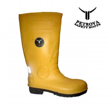Petrova Safety Boot PVC Yellow Sepatu Karet Kuning Anti Air
