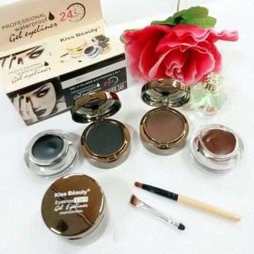 6 in 1 Eyeliner Gel & Eyebrow Powder By KISS BEAUTY