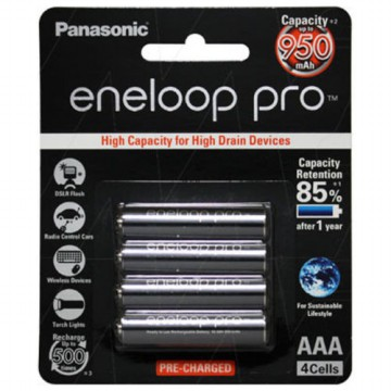 Panasonic Eneloop Pro AAA/A3 950mAh 500x charge (1 pack isi 4) Made In Japan