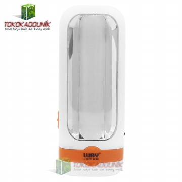 Senter Rechargeable Lampu Emergency 2 In 1 LUBY L7677 1 LED + 10 SMD Tahan 4 Jam Hemat Energi