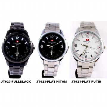 SWISS ARMY casual watch - JT023-plat hitam - Diameter 3,3cm