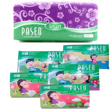 [1+1] Paseo Tissue Softpack 250's/ Wet Wipes 50's/ Travelpack 50's