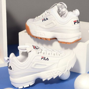 [FREE ONGKIR] FILA 100% Original DISRUPTOR 2 ALL WHITE FS1HTZ3071X Sneakers dari Korea
