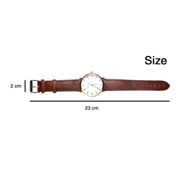 Jam Tangan Casual Watches Type Fashion 4 pilihan warna | Geneva watch (FIN-24)
