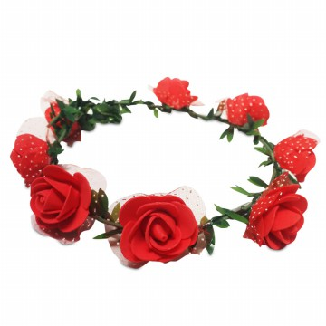 Balon Asia Flower Crown - Aksesories Pesta