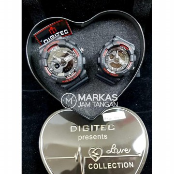Jam Tangan Couple Digitec LOVE Collection DG2020 / DG2063 Wtc ORIGINAL