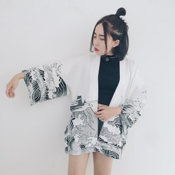 BAJU FASHION WANITA MODIS LOOSE KIMONO 01 IMPORT BEST SELLER