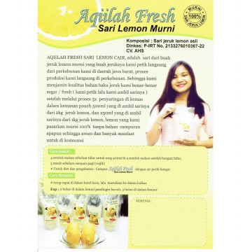 Aqiilah Fresh Sari Lemon Murni 500 ml