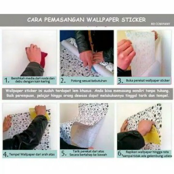 Wallpaper Sticker 10m Motif Batik Bunga Bunga