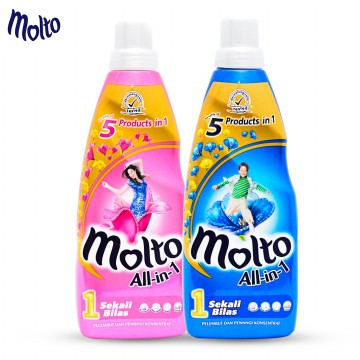 [CLEARANCE SALE]MOLTO BOTTLE ALL IN 1 PINK/BLUE BOTTLE  800ML