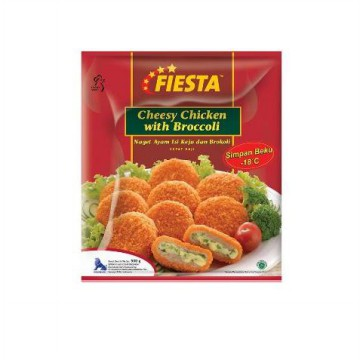 Fiesta Paket Cheese Chicken With Broccoli Makanan Instan 500 G (3 Pcs)