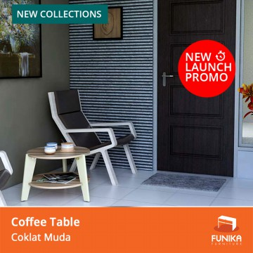 FUNIKA AVELA HR - Coffee Table - Coklat Muda