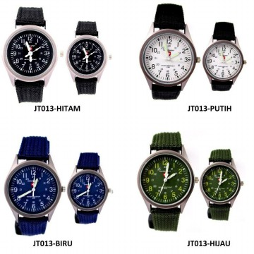 [1+1] [couple set] SWISS ARMY casual canvas couple watch - JT13