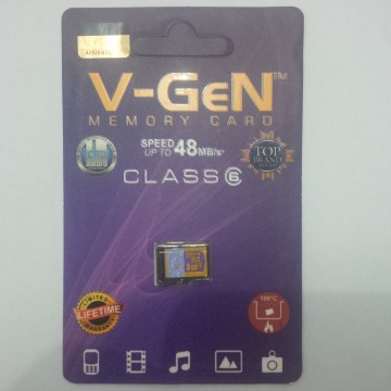 MICRO SD VGEN 8 GB CLASS 6 - SPEED UP TO 48 Mb/S (DIJAMIN ASLI)