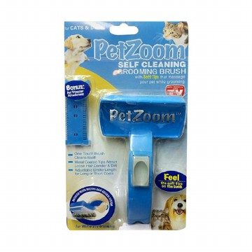 PetZoom Self Cleaning Brush Sisir Kucing dan Anjing
