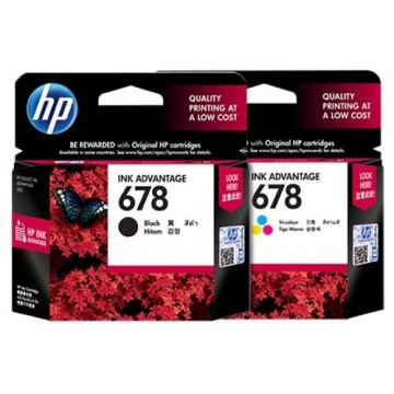 Tinta Original HP INK 678 Black & Colour Cartridge - For 1515, 2545 | Harga satuan