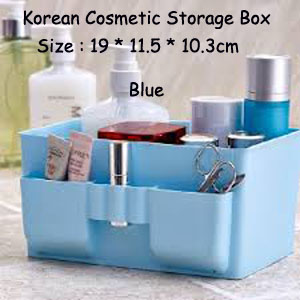 Korean Cosmetic Storage Box/Storage Box Office Desktop - BLUE