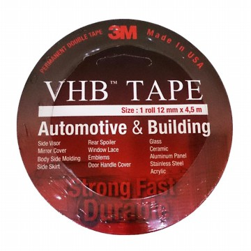 3M VHB Double Tape Automotive 4900, tebal: 1.1 mm, size: 12 mm x 4.5 m