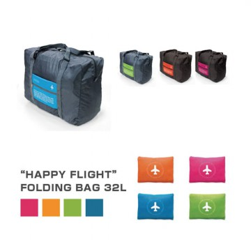 HAPPY FLIGHT FOLDING BAG /FOLDABLE TRAVEL BAG /HAND CARRY TAS LIPAT