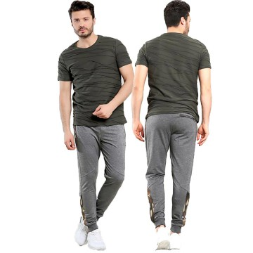 KFASHION Eben Jogger Pants Pria Variasi Army - Dark Grey
