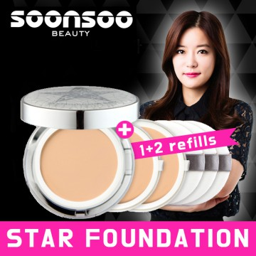 Soonsoo Celebrity Foundation 1pc + 2 Refills
