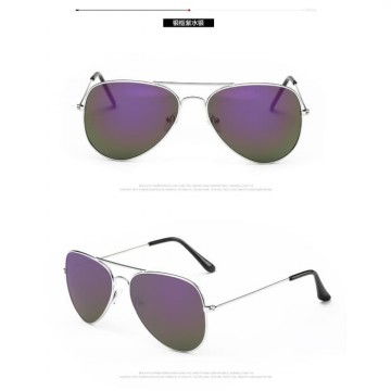 Tiaria Unisex Classic Sunglasses Metal Frame Aviator | Frame Alloy / Glass: Plastic