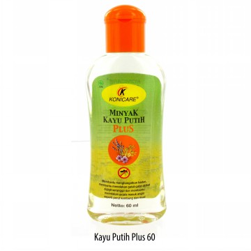 KONICARE MINYAK KAYU PUTIH PLUS ANTI NYAMUK TUTUP ORANGE 60 ML