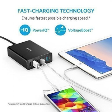 Wall Charger Anker PowerPort+ 5 USB C with USB Power Delivery EU Black