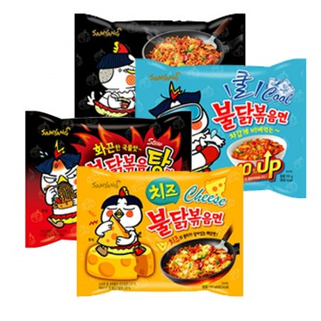 #Samyang 5PCS Buldak bokeum ramen series / cheese / soup / fried /