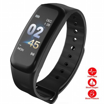 SmartBand C1S Color Hitam Smartwatch Smart Watch