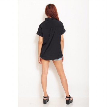 Jfashion shirt with pocket black edition