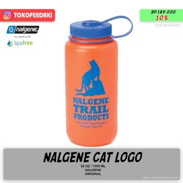 Nalgene WM Wide Mouth Cat Logo Botol Air Minum Olahraga Outdoor 1000ml
