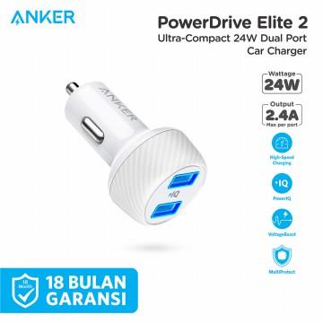 Car Charger Anker PowerDrive Elite 2 - A2212