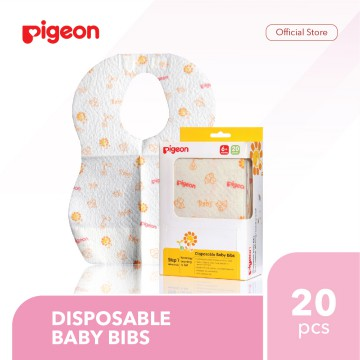 PIGEON Disposable Baby Bibs 20 Pcs