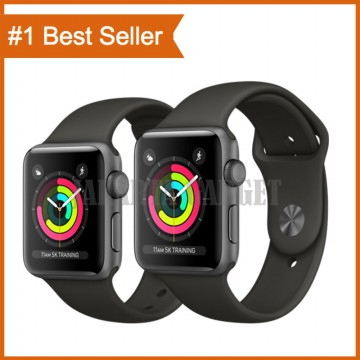 Apple Watch Series 3 42mm Space Gray Aluminum Case Gray Sport Band MR362 - Garansi Resmi Apple