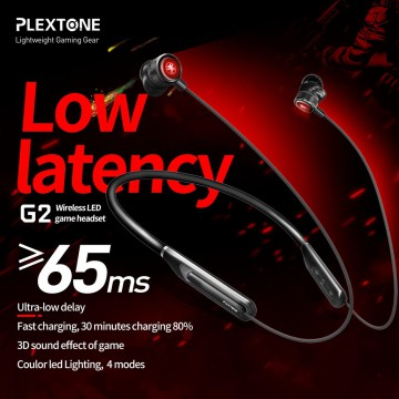Plextone G2 In-Ear Neckband 3D Sound Effect Wireless Gaming Earphone Microphone