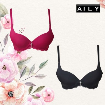 Aily ZR27 Push Up Bra Wanita Sweet Lace Wanita Cup B