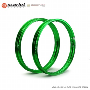 SCARLET RACING Velg Ring 17 160 140 Type WR Shape Green