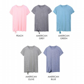 Ladies Short Sleeve T-Shirts With Side Bow Available In 5 Colors