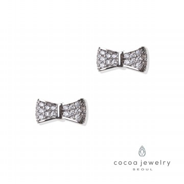 cocoa jewelry Anting Wanita Korea - Patterned Ribbon